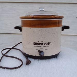 Vintage Rival Crock Pot Removable Server 3150